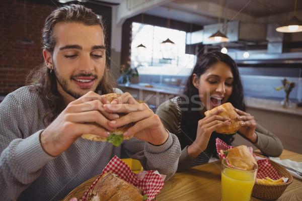 друзей еды кафе молодые таблице человека Сток-фото © wavebreak_media