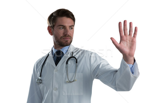 Medico di sesso maschile invisibile schermo bianco medico medici Foto d'archivio © wavebreak_media