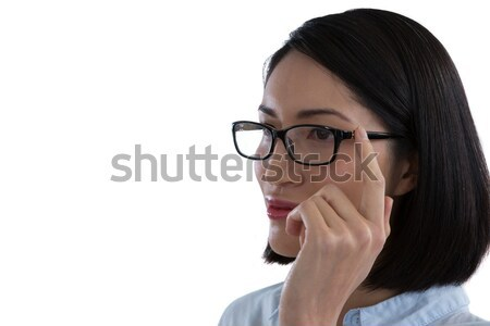 Close-up of woman in spectacle Stock photo © wavebreak_media