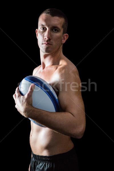 Portre yakışıklı gömleksiz spor oyuncu Stok fotoğraf © wavebreak_media
