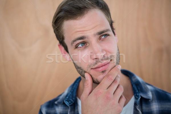 Przystojny strony podbródek człowiek Zdjęcia stock © wavebreak_media