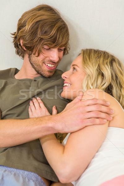 Bonitinho casal cama quarto amor Foto stock © wavebreak_media