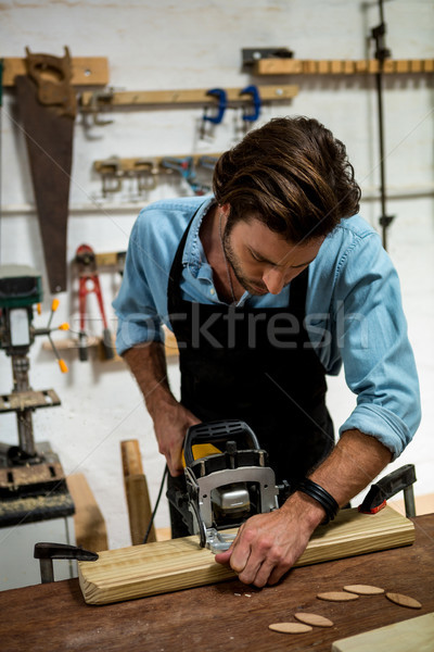 Carpenter working on his craft Stock photo © wavebreak_media