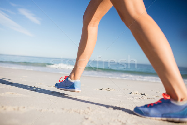 Stock photo: Focus on Fit womans legs