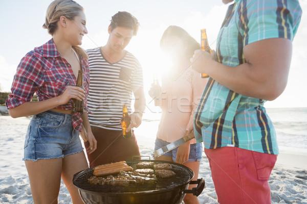 Friends having a barbecue Stock photo © wavebreak_media