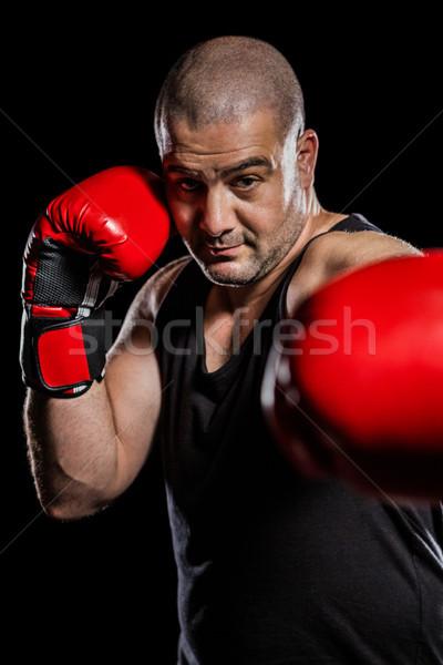 Boxer performing upright stance Stock photo © wavebreak_media