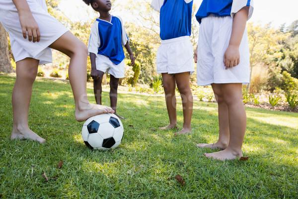 Kinderen voetbal team spelen wedstrijd Stockfoto © wavebreak_media