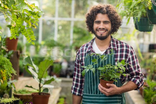Sonriendo masculina jardinero retrato Foto stock © wavebreak_media