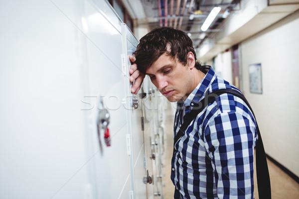 Triest student kastje college man Stockfoto © wavebreak_media