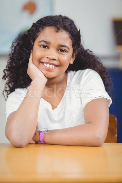 Mosolyog ül osztályterem boldog gyermek asztal Stock fotó © wavebreak_media