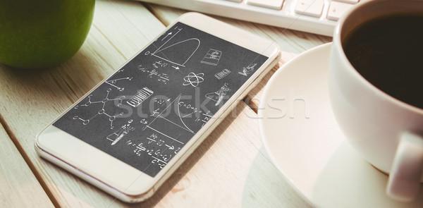 Immagine math scienza scarabocchi caffè Foto d'archivio © wavebreak_media