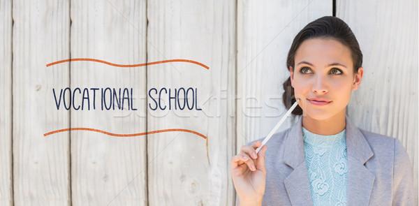 профессиональный школы брюнетка мышления улыбаясь Сток-фото © wavebreak_media