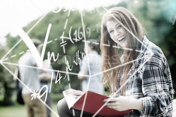 Immagine math problemi uomo felice Foto d'archivio © wavebreak_media