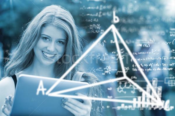 összetett kép matematika nő boldog diák Stock fotó © wavebreak_media