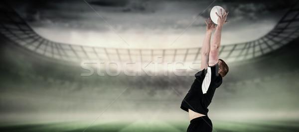 Imagen rugby jugador pelota de rugby estadio Foto stock © wavebreak_media