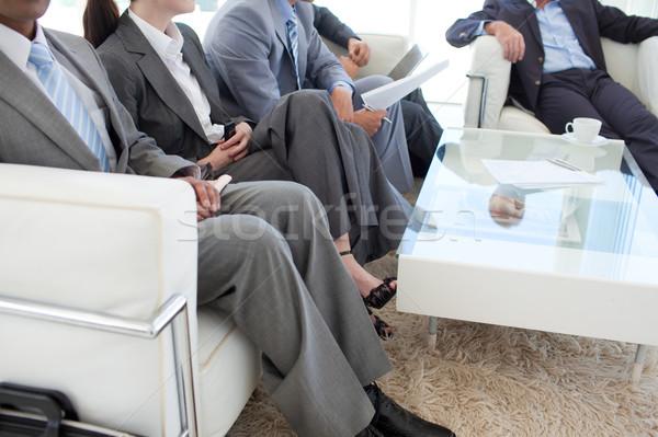 üzletemberek váróterem állásinterjú üzlet divat munka Stock fotó © wavebreak_media