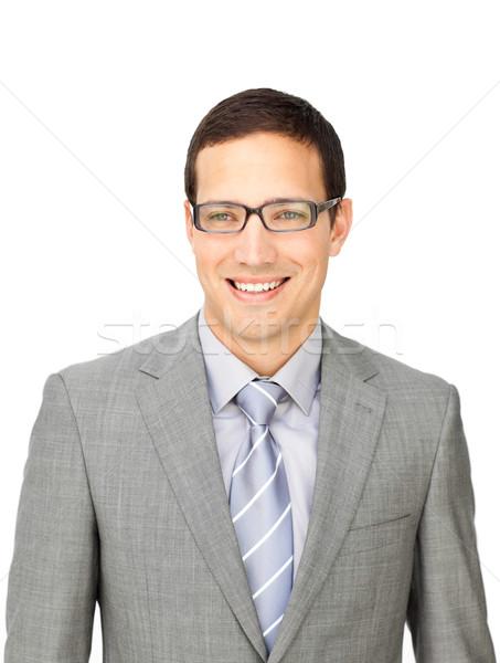 сложный бизнесмен очки изолированный белый Сток-фото © wavebreak_media