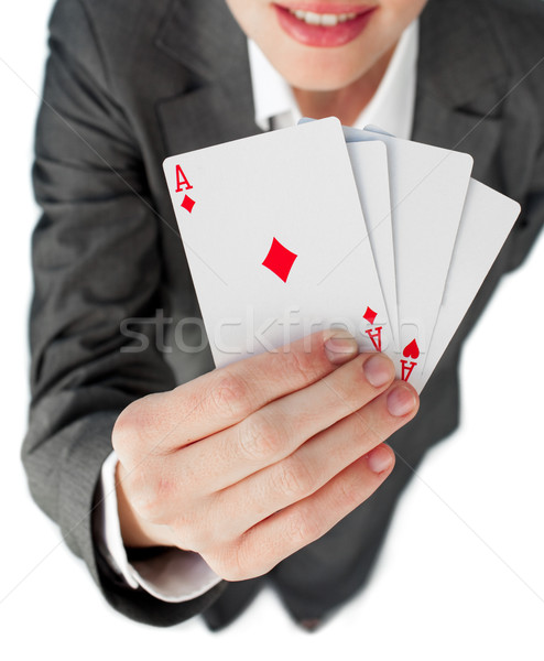 Close-up of a businesswoman holding all the aces  Stock photo © wavebreak_media