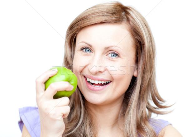 женщину яблоко белый продовольствие Сток-фото © wavebreak_media
