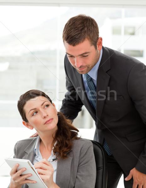 красивый менеджера говорить секретарь служба бизнеса Сток-фото © wavebreak_media