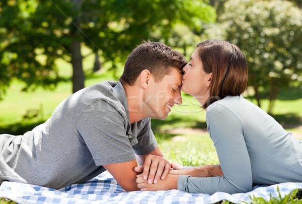 влюбленный пару парка женщину семьи любви Сток-фото © wavebreak_media