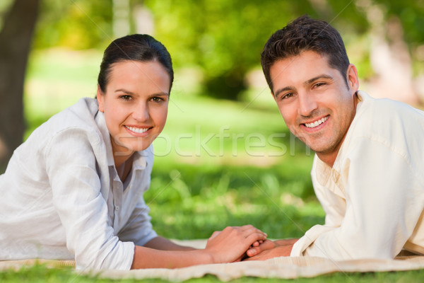 Enamored couple in the park Stock photo © wavebreak_media