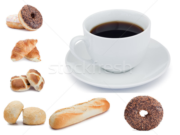 Coffee and pastries against a white background Stock photo © wavebreak_media