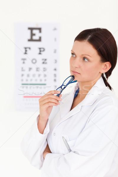 女性 眼鏡屋 視力検査 目 作業 美 ストックフォト © wavebreak_media