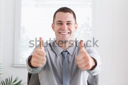 Jungen lächelnd Geschäftsmann Büro glücklich Arbeit Stock foto © wavebreak_media