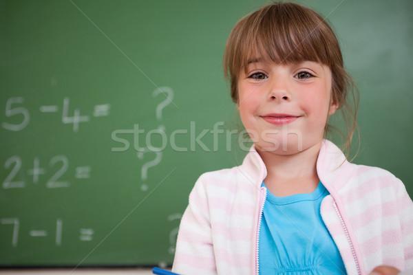девочку Постоянный вверх доске девушки школы Сток-фото © wavebreak_media