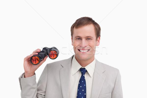 Glimlachend zakenman spion bril witte man Stockfoto © wavebreak_media