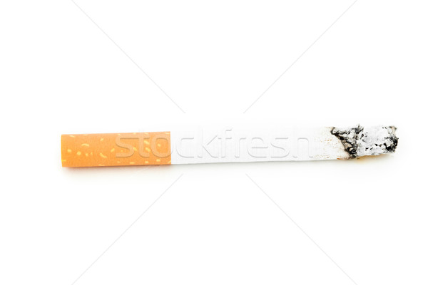 Close up of a cigarette consumed against a white background Stock photo © wavebreak_media