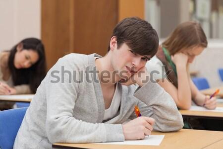 Stock fotó: Tanár · magyaráz · valami · diák · osztályterem · nő