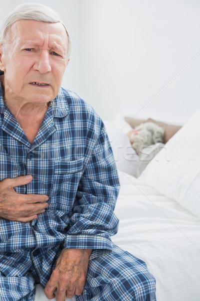 человека страдание тело более спальня Сток-фото © wavebreak_media