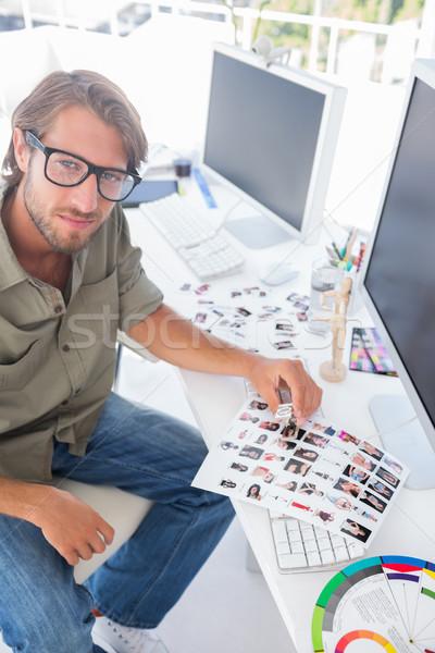 Fotó szerkesztő felfelé néz munka fényes modern Stock fotó © wavebreak_media
