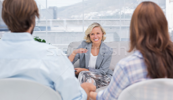 Psicólogo casal mulher sofá feminino Foto stock © wavebreak_media