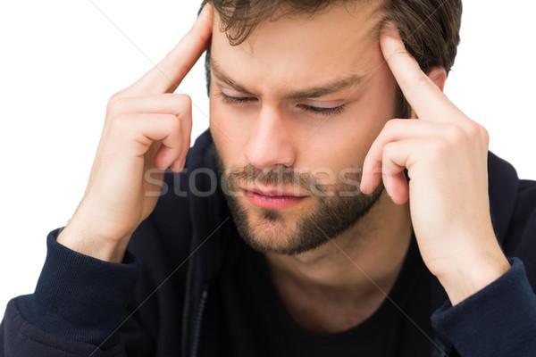 Przystojny młody człowiek głowy biały zdrowia Zdjęcia stock © wavebreak_media