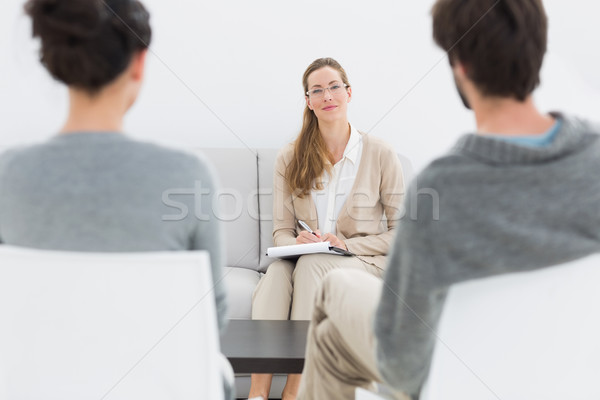 Female relationship counselor in meeting with young couple Stock photo © wavebreak_media