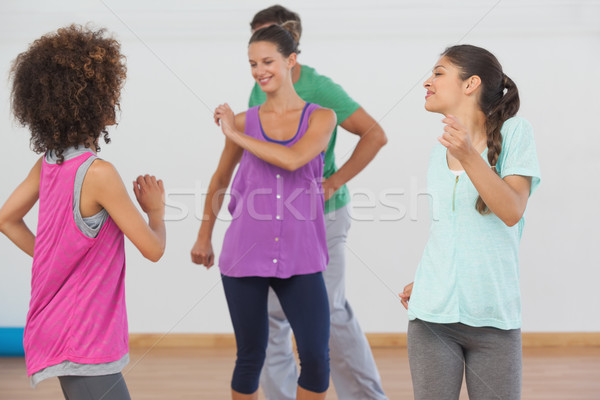 Fitnessz osztály oktató pilates testmozgás derűs Stock fotó © wavebreak_media