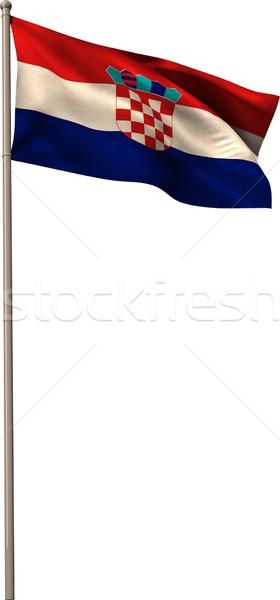 Digitally generated croatia national flag Stock photo © wavebreak_media