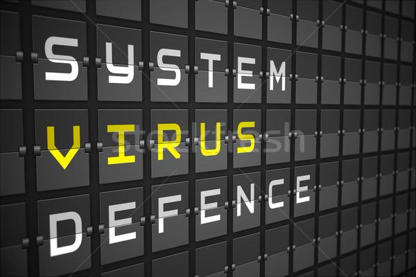 ウイルス 黒 メカニカル ボード デジタル 生成された ストックフォト © wavebreak_media