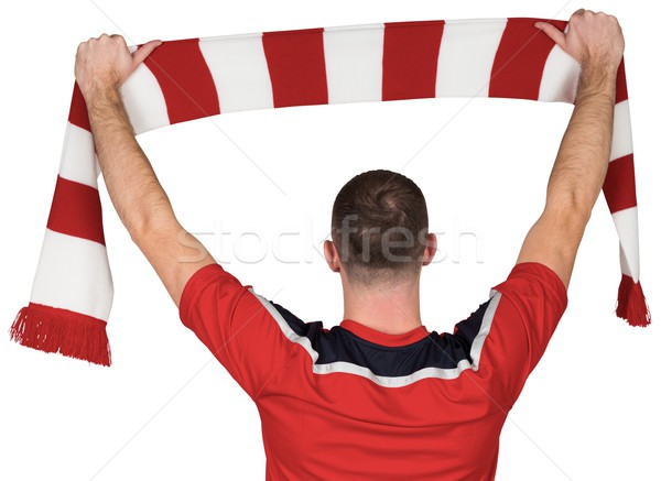 Football player holding striped scarf Stock photo © wavebreak_media