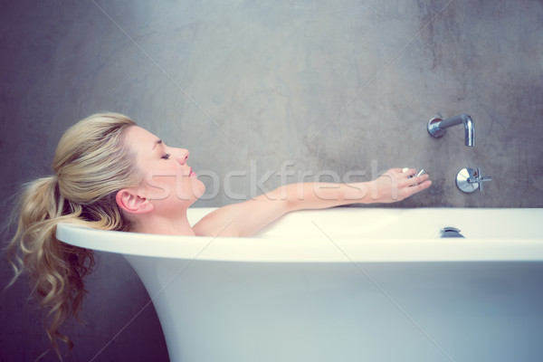 Serene blonde lying in the bath  Stock photo © wavebreak_media