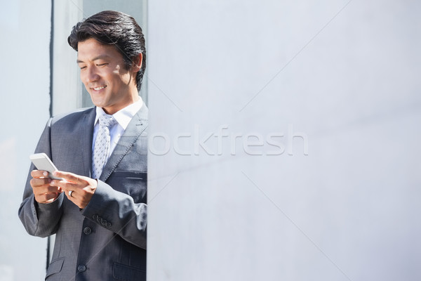 Asiático empresário fora casa Foto stock © wavebreak_media
