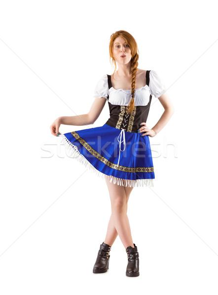 Oktoberfest girl spreading her skirt Stock photo © wavebreak_media