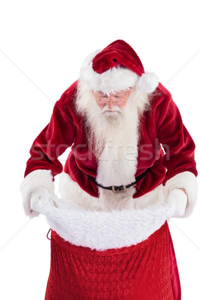 Święty mikołaj worek biały człowiek christmas Zdjęcia stock © wavebreak_media