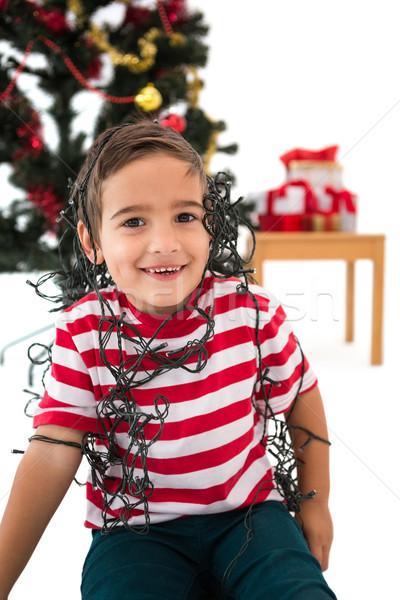 Feestelijk weinig jongen schrijven lijst Stockfoto © wavebreak_media