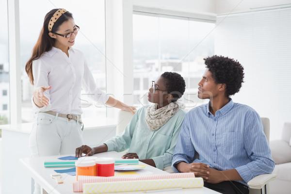 Interior designer speaking with clients Stock photo © wavebreak_media