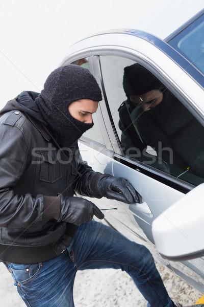 Ladro auto porta maschio assicurazione guanti Foto d'archivio © wavebreak_media