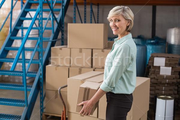 улыбаясь склад менеджера большой Сток-фото © wavebreak_media
